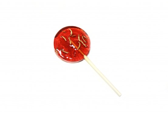 Strawberry Mealworms Lollipop